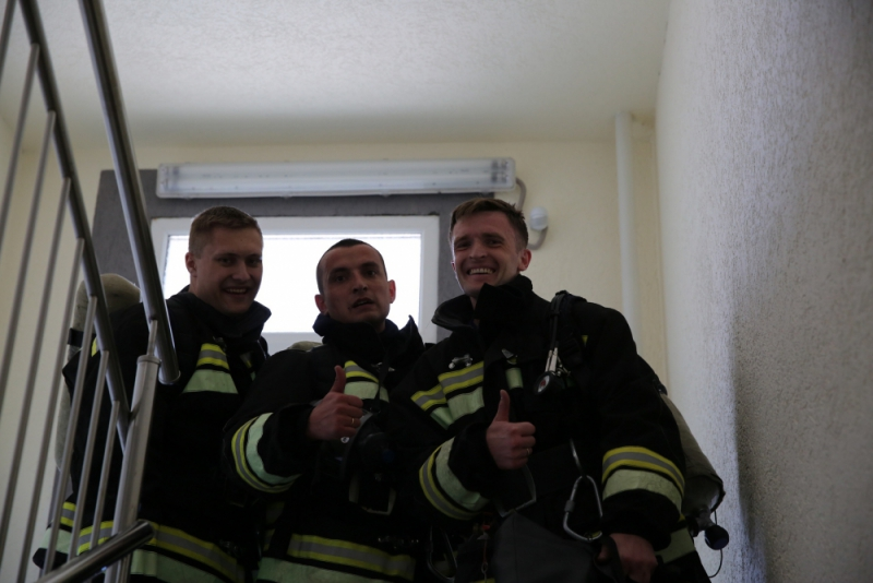 Новороссийские пожарные во всех смыслах на высоте