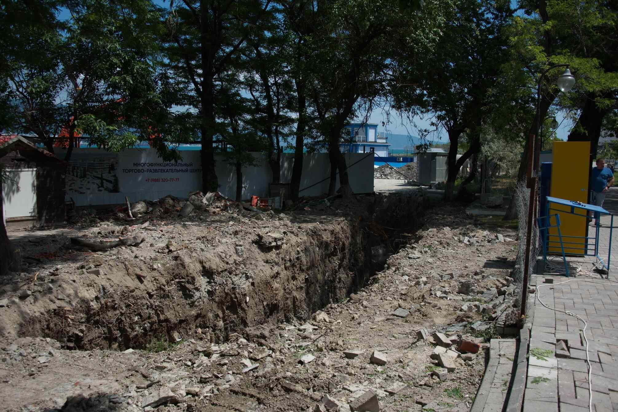 Станет ли катастрофой для новороссийцев разрытие в парке Фрунзе?