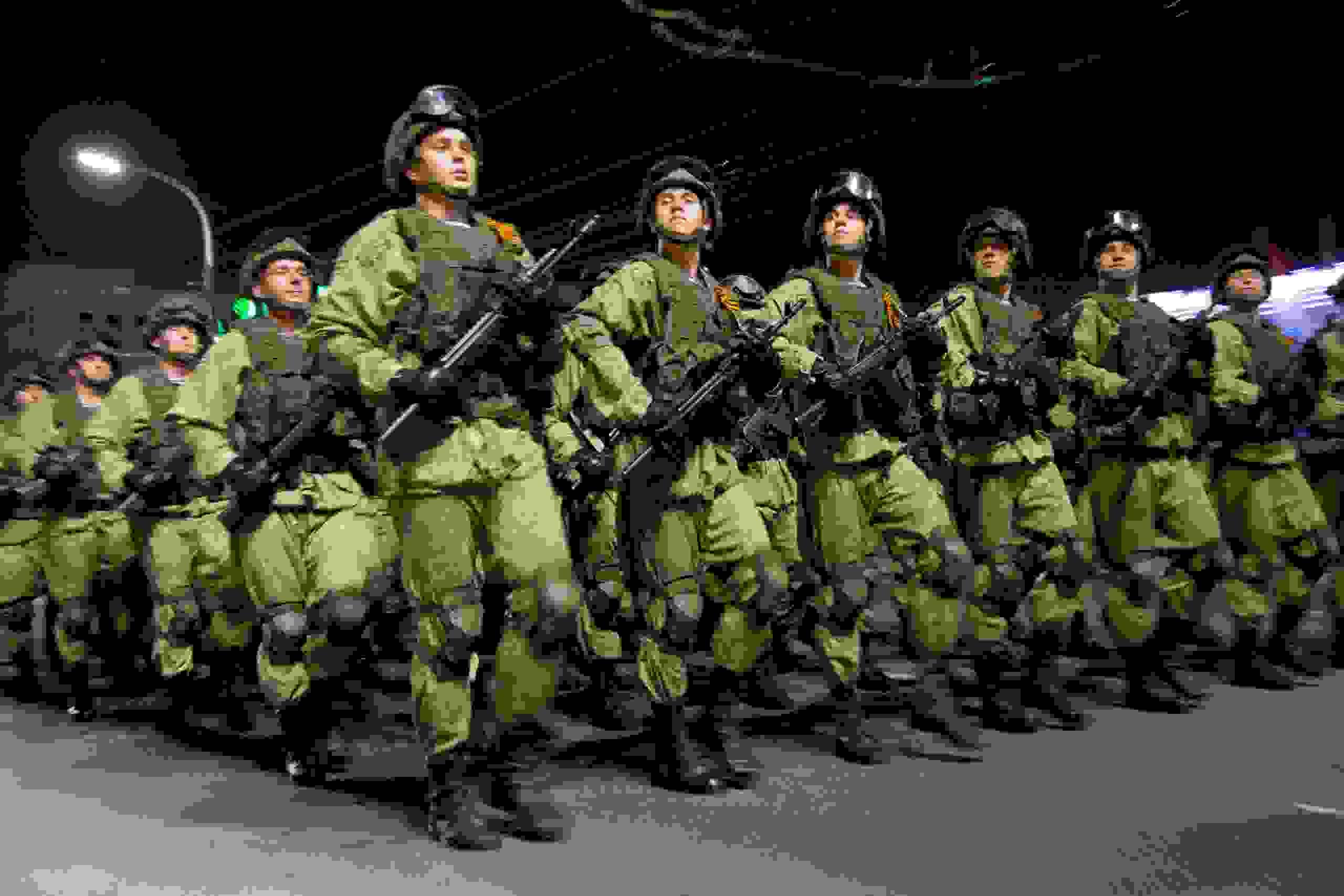 Репетиция парада в Новороссийске