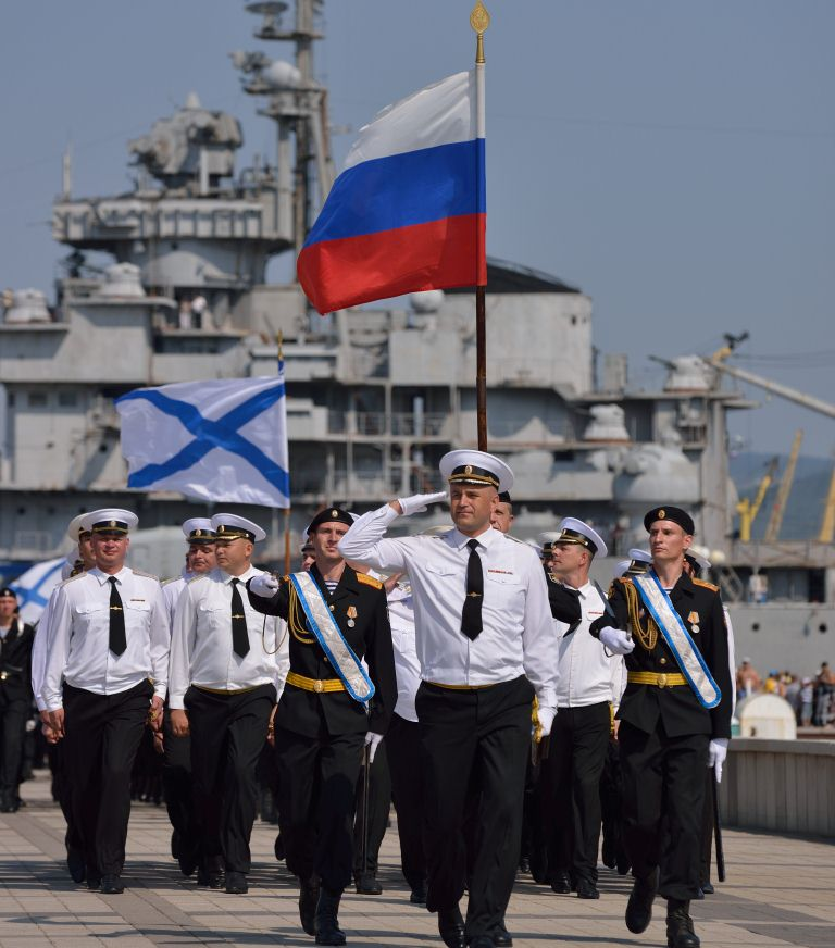 Новороссийские военные моряки празднуют свой профессиональный праздник