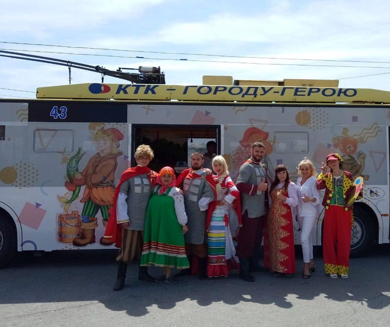 Новороссийцы могут выиграть приз, катаясь надетском троллейбусе