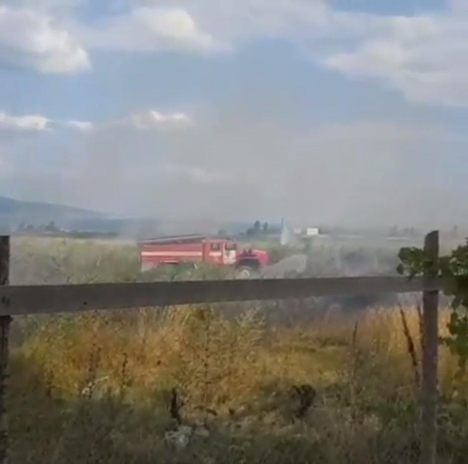 ВНовороссийске в50метрах отмногоэтажек горели виноградники