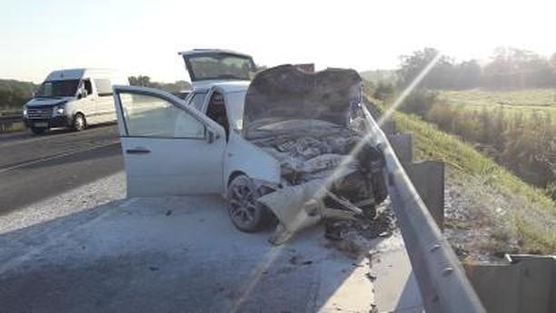 Пять машин всмятку: две аварии под Новороссийском