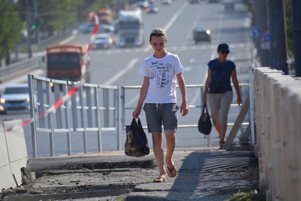 Новые тротуары на Магистральной в Новороссийске оказались удобными