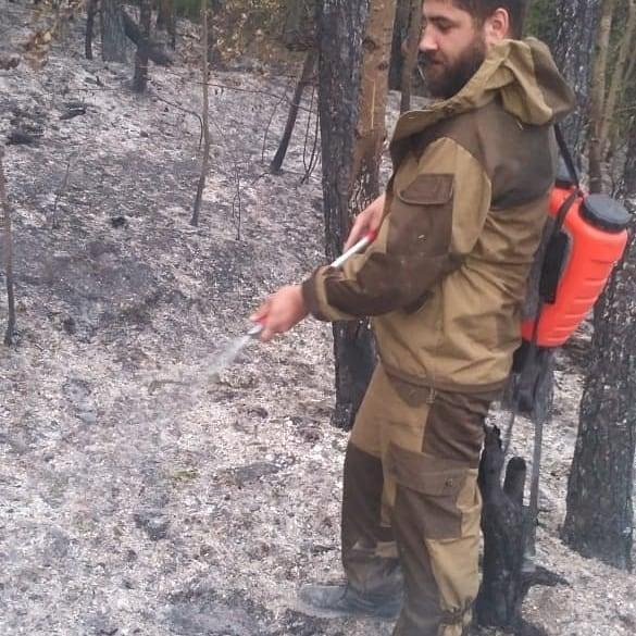 Под Новороссийском тушили пожар