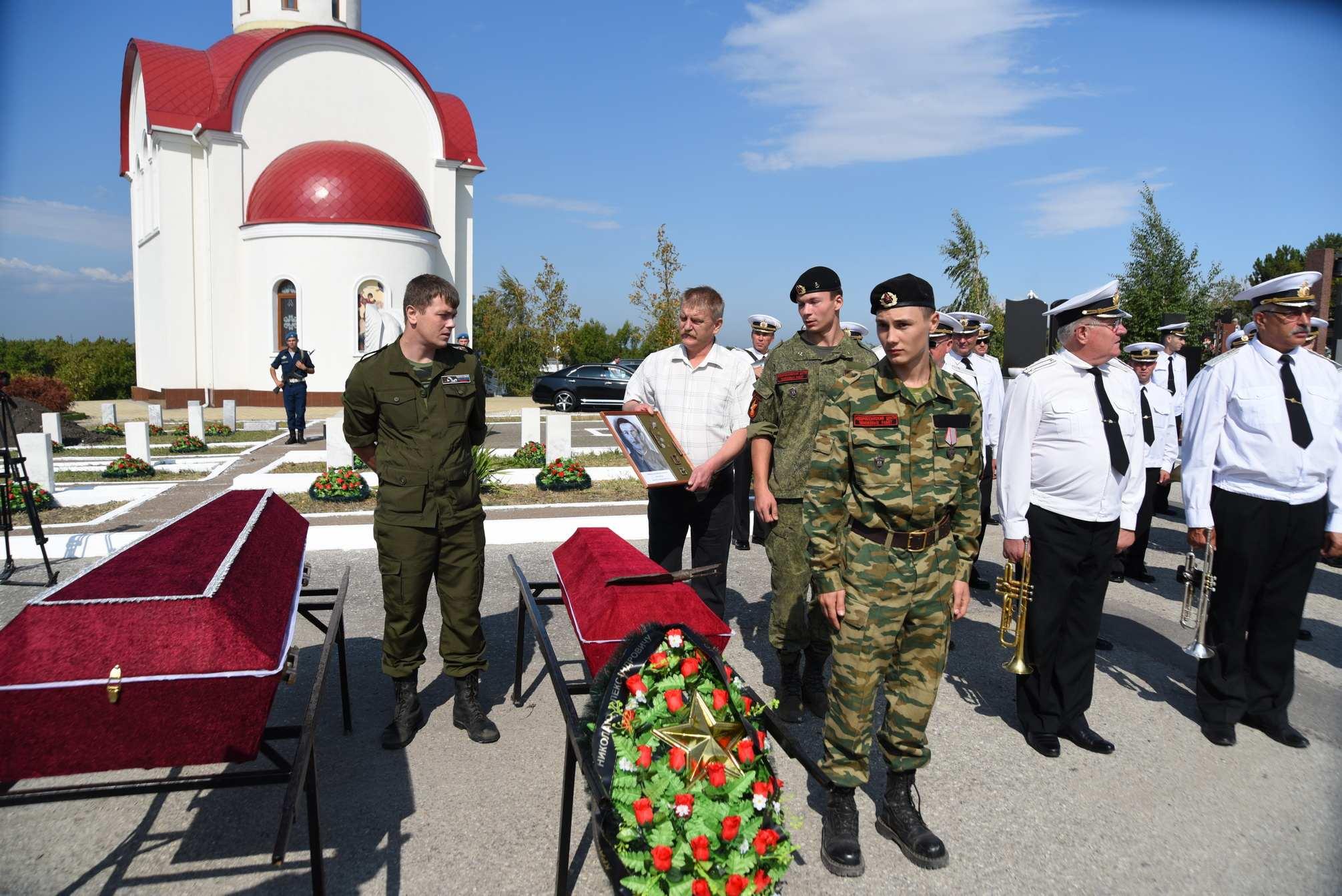В Новороссийске провели ритуал перезахоронения воинов