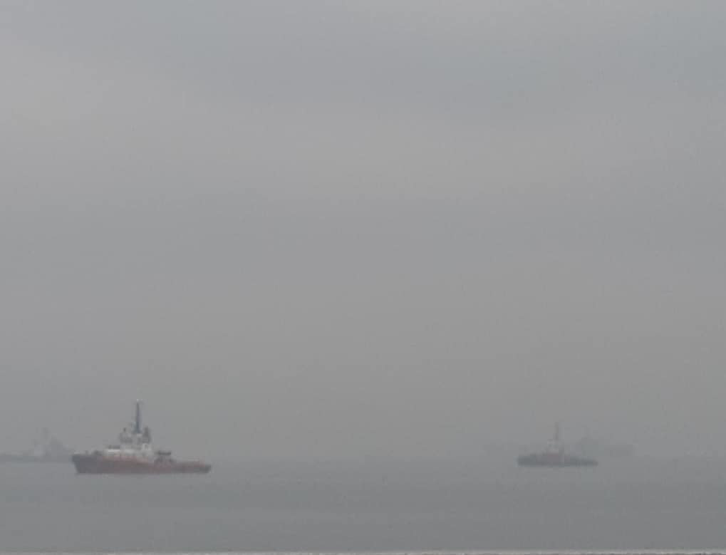 Новороссийск накрыло серым туманом