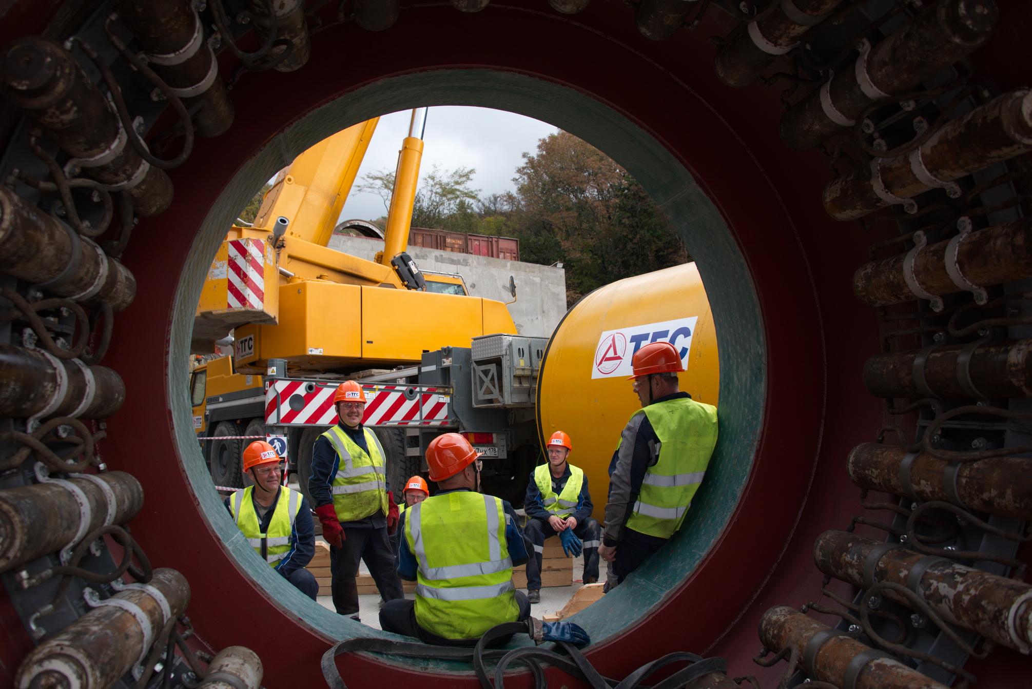 В Новороссийске приступили к строительству тоннеля для отвода дождевой воды