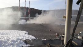 В Новороссийске пожар на нефтебазе