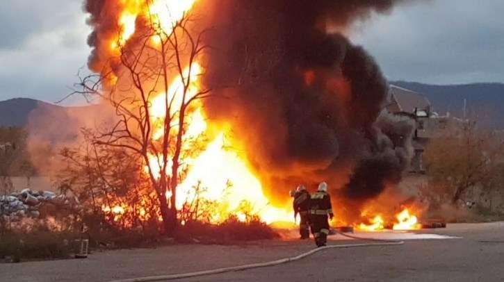 В Новороссийске в день по два пожара