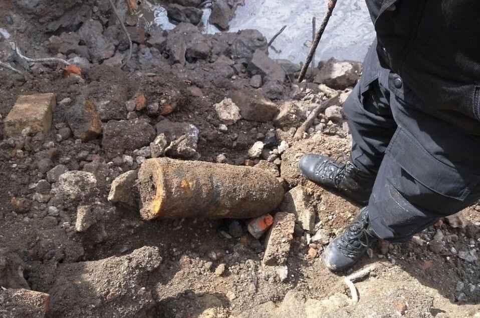 Под Новороссийском нашли артиллерийский снаряд времен войны