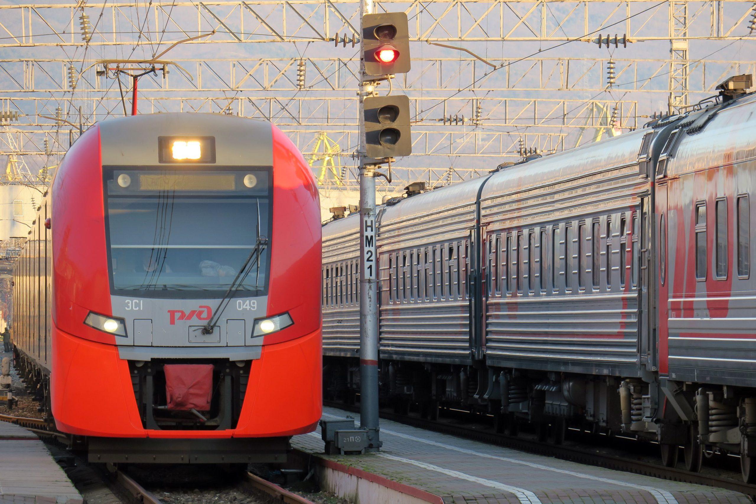 В Баку из Новороссийска пустили пассажирский поезд