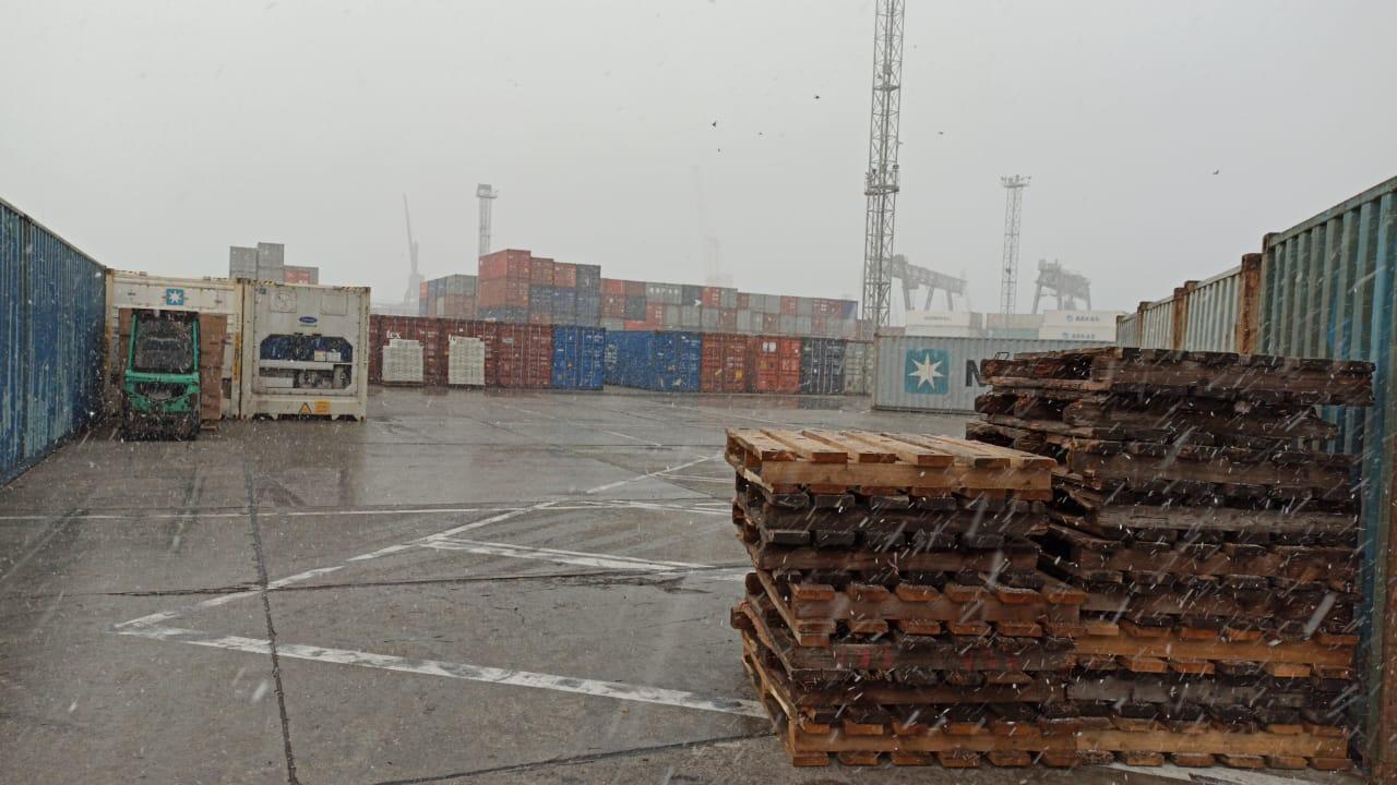 В Новороссийске пошел снег