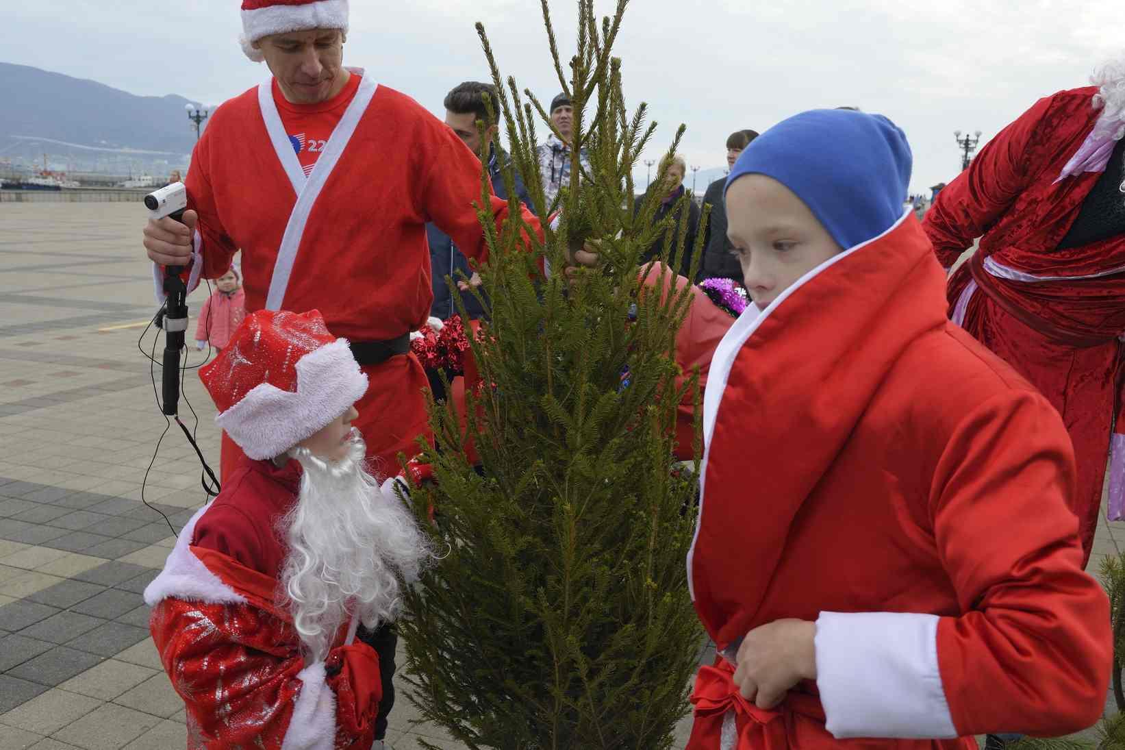 В Новороссийске за пробежку в костюме Деда Мороза дарили елку
