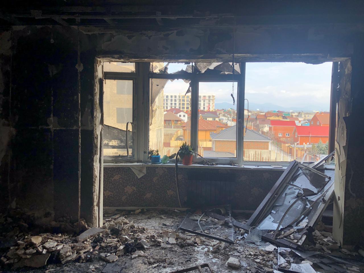 В Новороссийске в огне погибла женщина