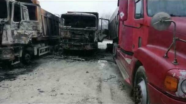 сгорели грузовики в Новороссийске
