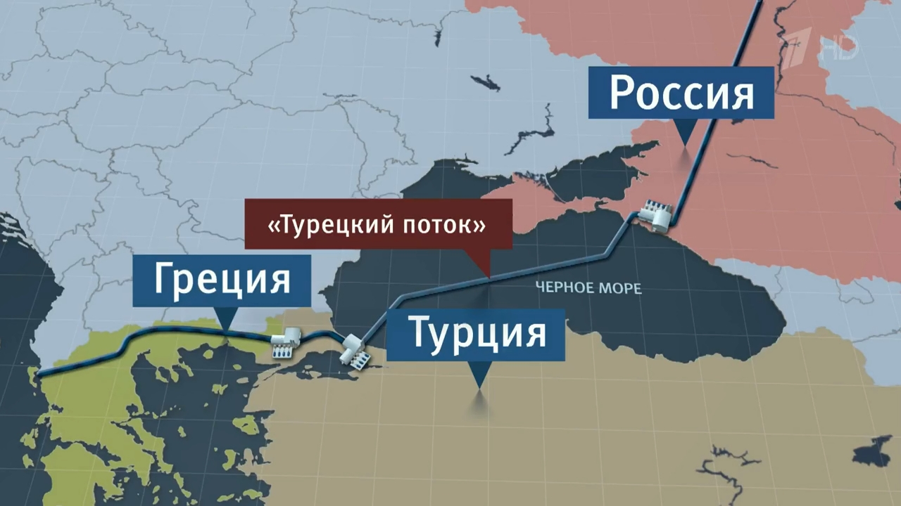 Россия начала поставку газа по «Турецкому потоку»