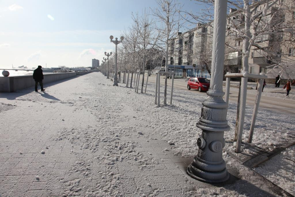 Сегодня ночью в Новороссийске начнется снегопад. И будет сыпать три дня