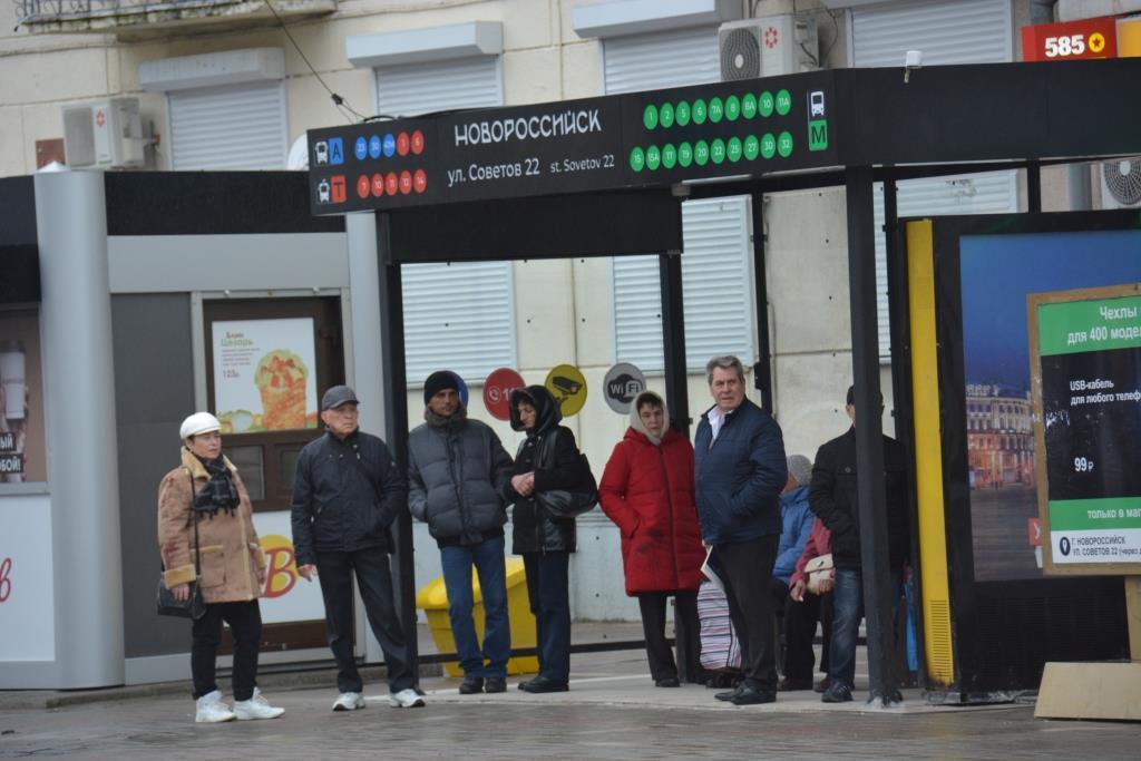 В Новороссийске новые остановки оборудованы видеокамерами и кнопкой экстренной помощи