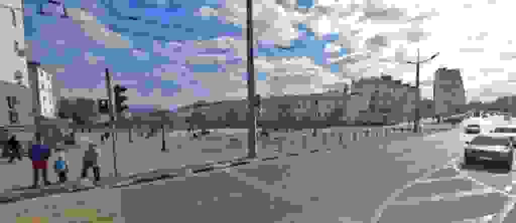 На проспекте Ленина в Новороссийске поставят дополнительные знаки и поднимут островок безопасности