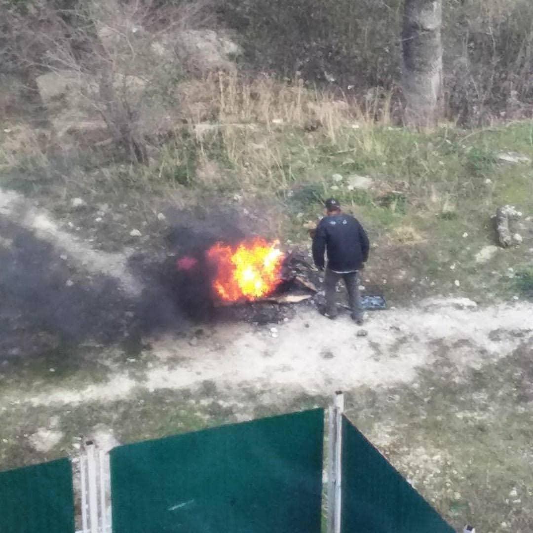 В Новороссийске бомж чуть не поджег Цемесскую рощу