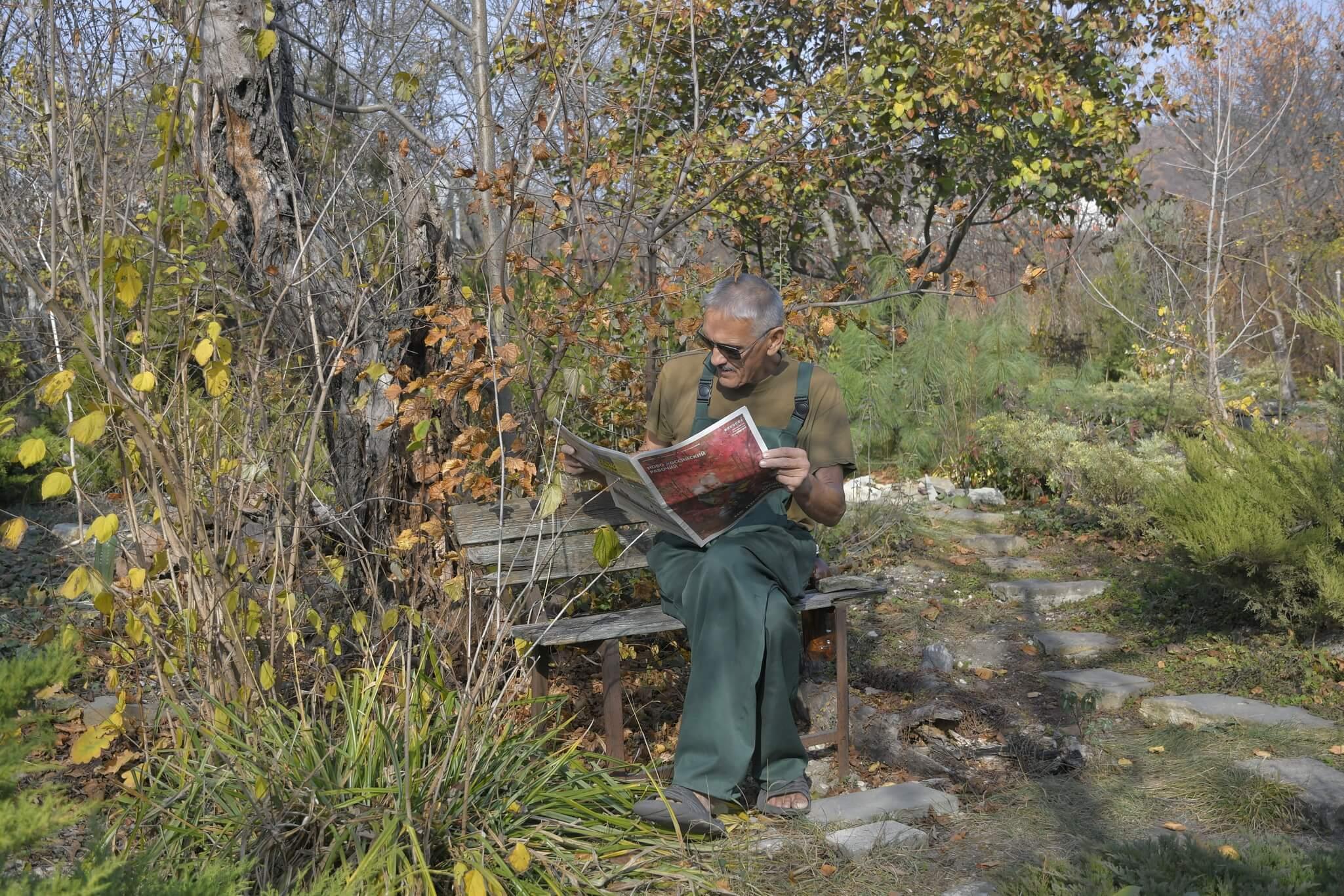Новороссиец высадил на своем участке уникальный можжевеловый сад
