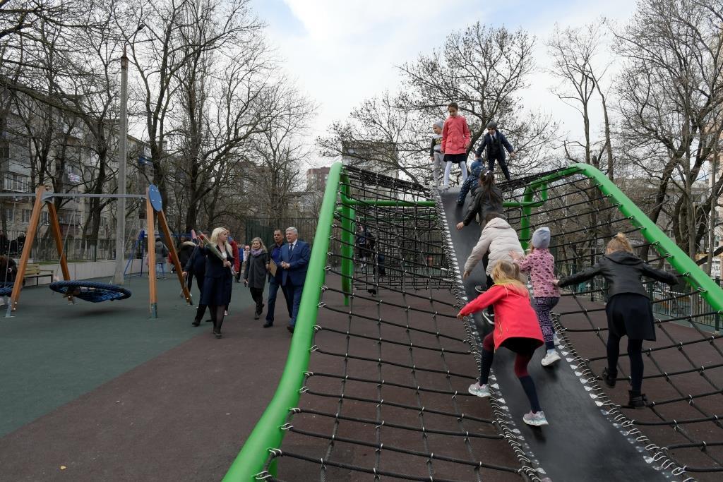 В Новороссийске открылся сквер Науки с единственной в городе «Тропой приключений»