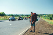 В Новороссийске остановили путешественника из Липецкой области, который добирался автостопом