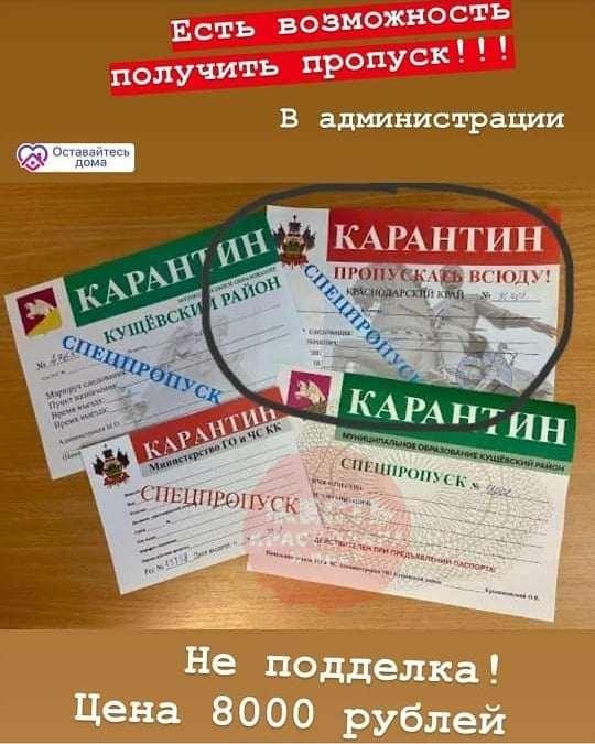 В Новороссийске стали продавать поддельные пропуска на транспорт и разрешение на передвижение
