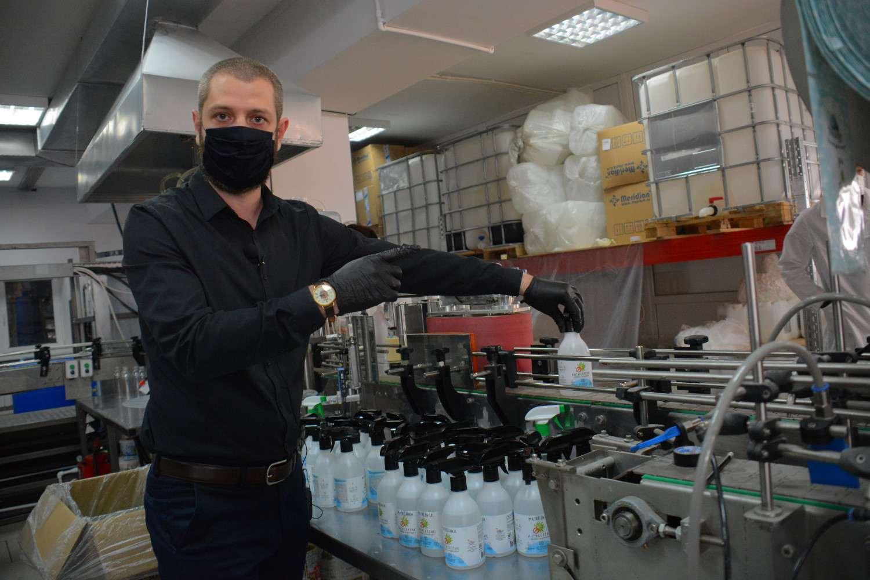 В Новороссийске начали выпускать антисептик в промышленных масштабах