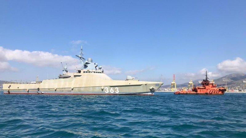 Боевой корабль «Павел Державин» готовится в Новороссийске к ходовым и госиспытаниям