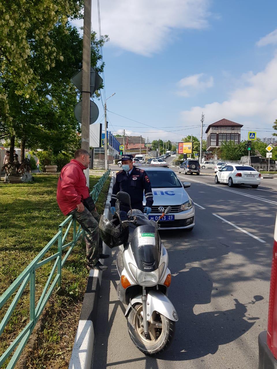 В Новороссийске на каждого мотоциклиста приходится по три нарушения