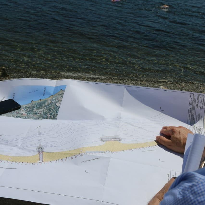 В Новороссийске появится новый пляж в районе четвертой очереди набережной. Пока купаться там запрещено