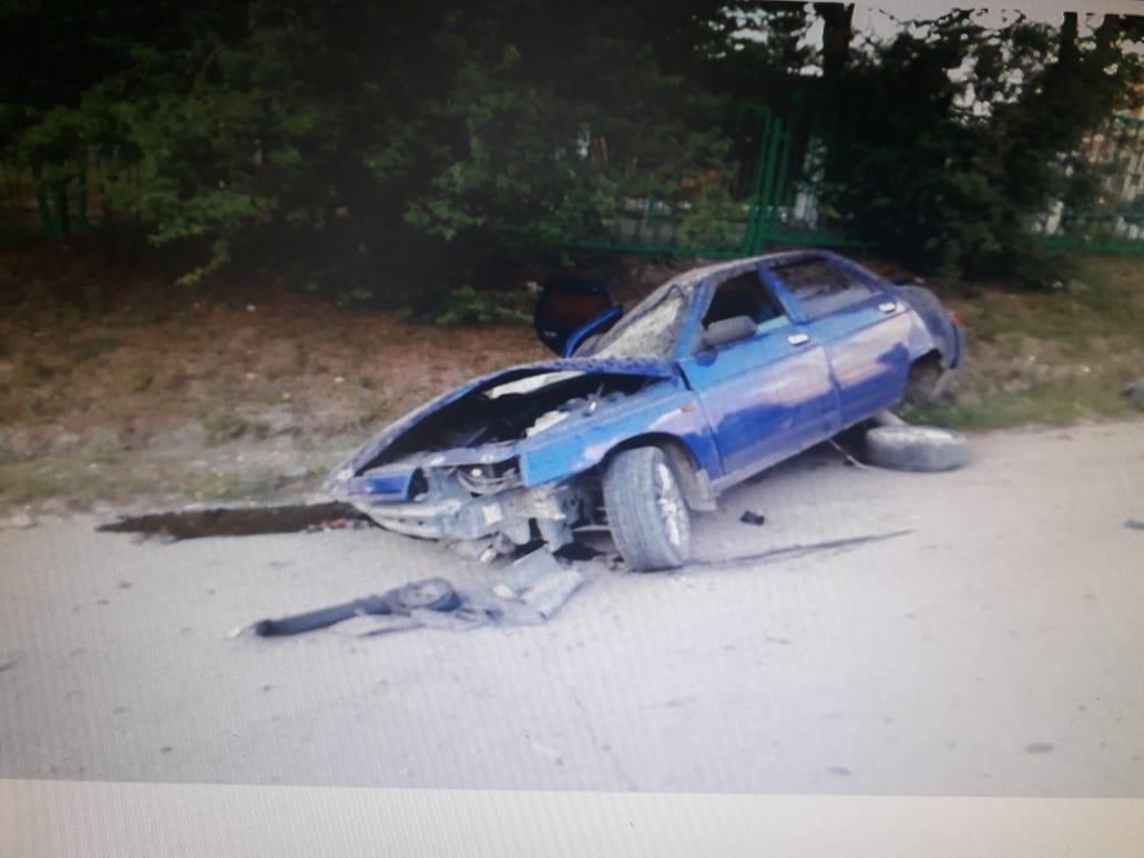 В Новороссийске пьяный водитель улетел в кювет. Хорошо, что никого не зацепил