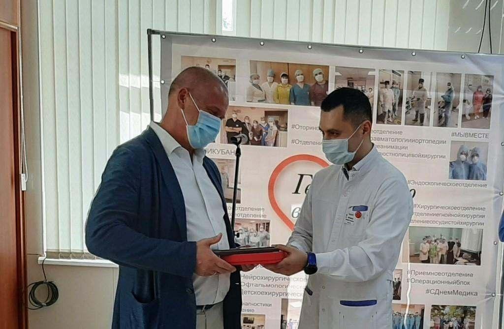 НЗТ передал новые аппараты ИВЛ городской больнице №1 Новороссийска