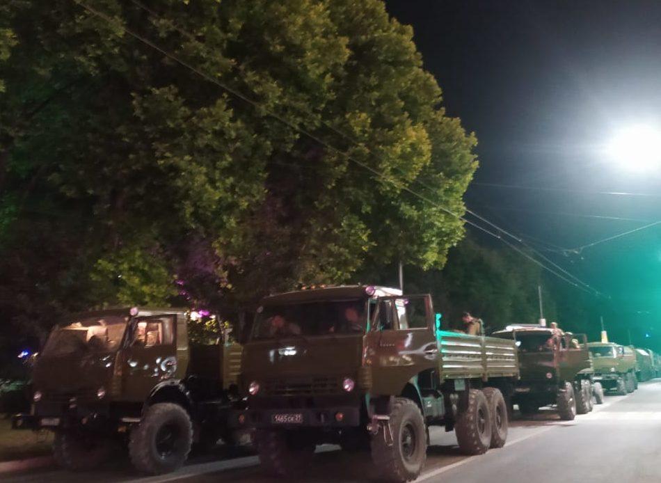 В Новороссийске прошла репетиция военного парада
