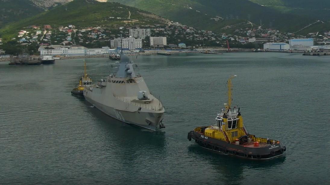 Экипаж нового патрульного корабля «Павел Державин» готовится войти в состав Черноморского флота