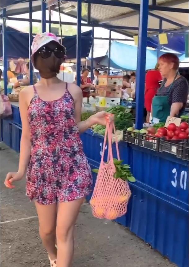 Мисс Шерстяное лицо прошлась по рынку Новороссийска