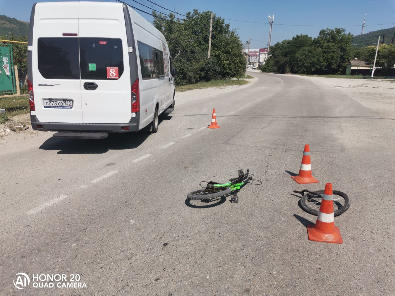 В Новороссийске сбили подростка на велосипеде