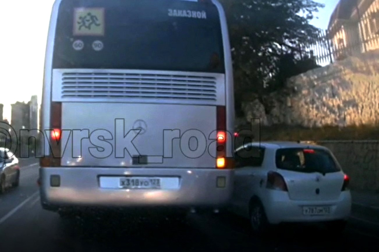 Вчера на Сухумском шоссе встретились два упрямца