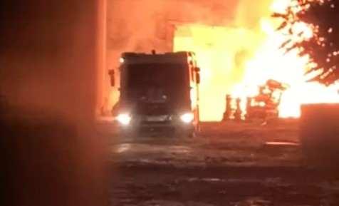 В Новороссийске в районе порта снова пожар