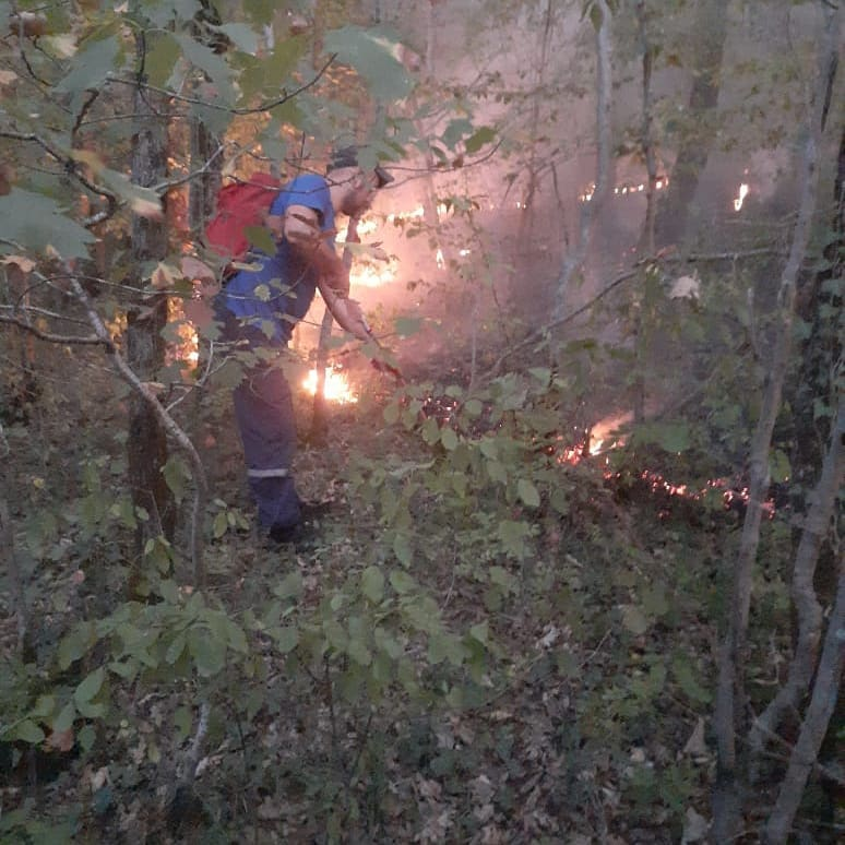 В Новороссийске снова горела сухая трава. Сразу в трех районах