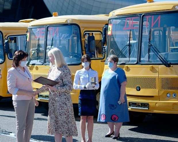 Парк школьных автобусов в Краснодарском крае обновился на 90%
