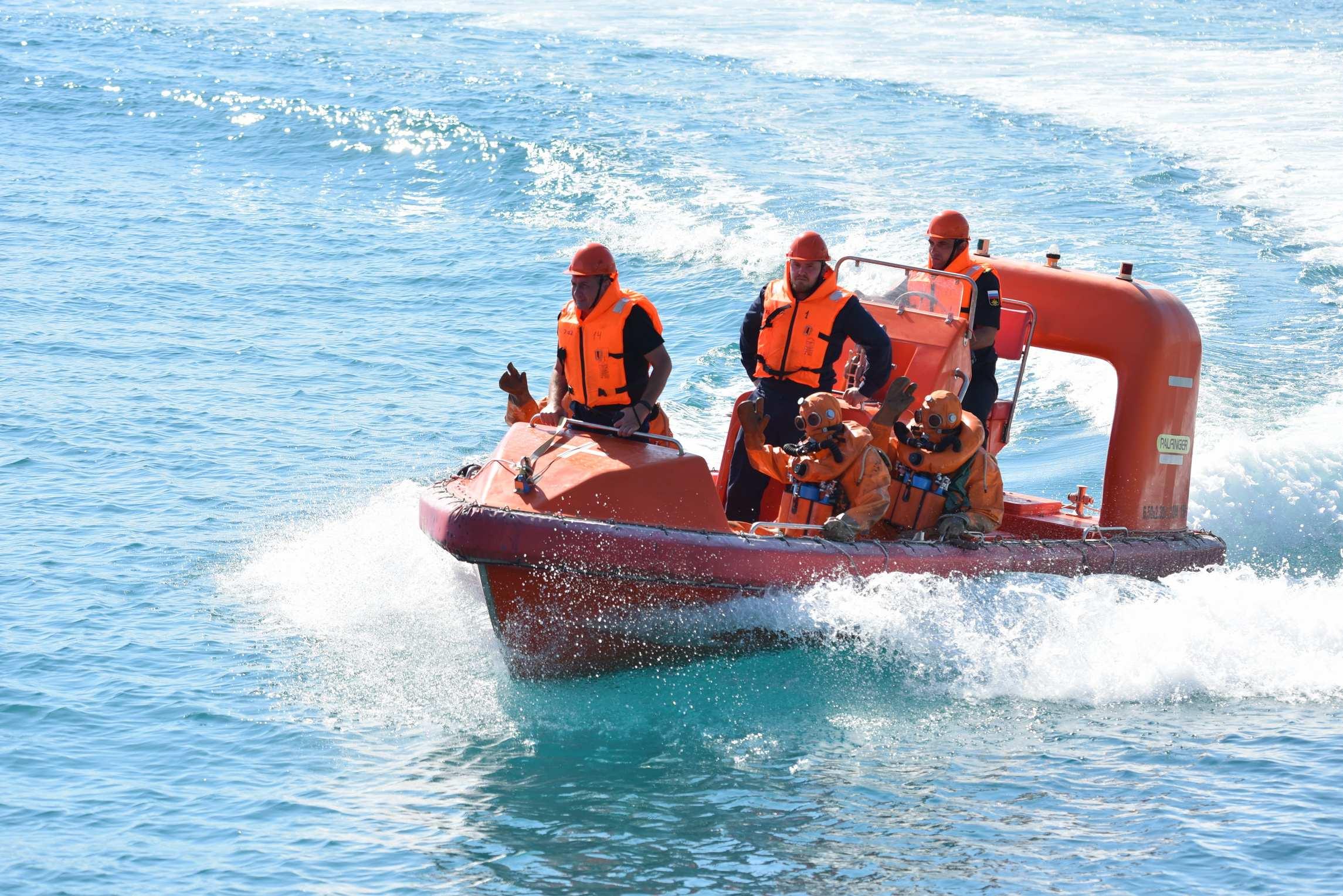 На новороссийской военно-морской базе прошли учения
