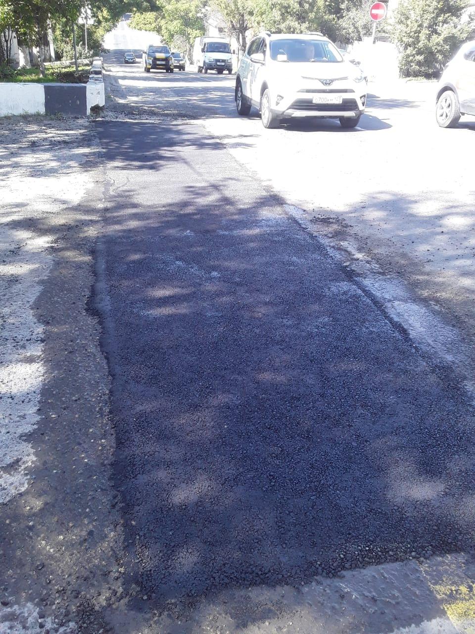 В Новороссийске идут ямочные ремонты дорог (адреса)