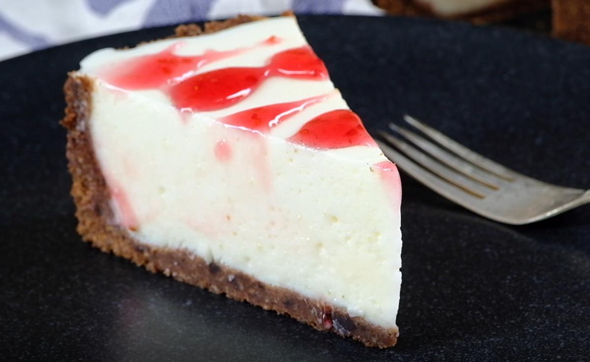 Зефирный чизкейк без выпечки — очень простой и быстрый торт