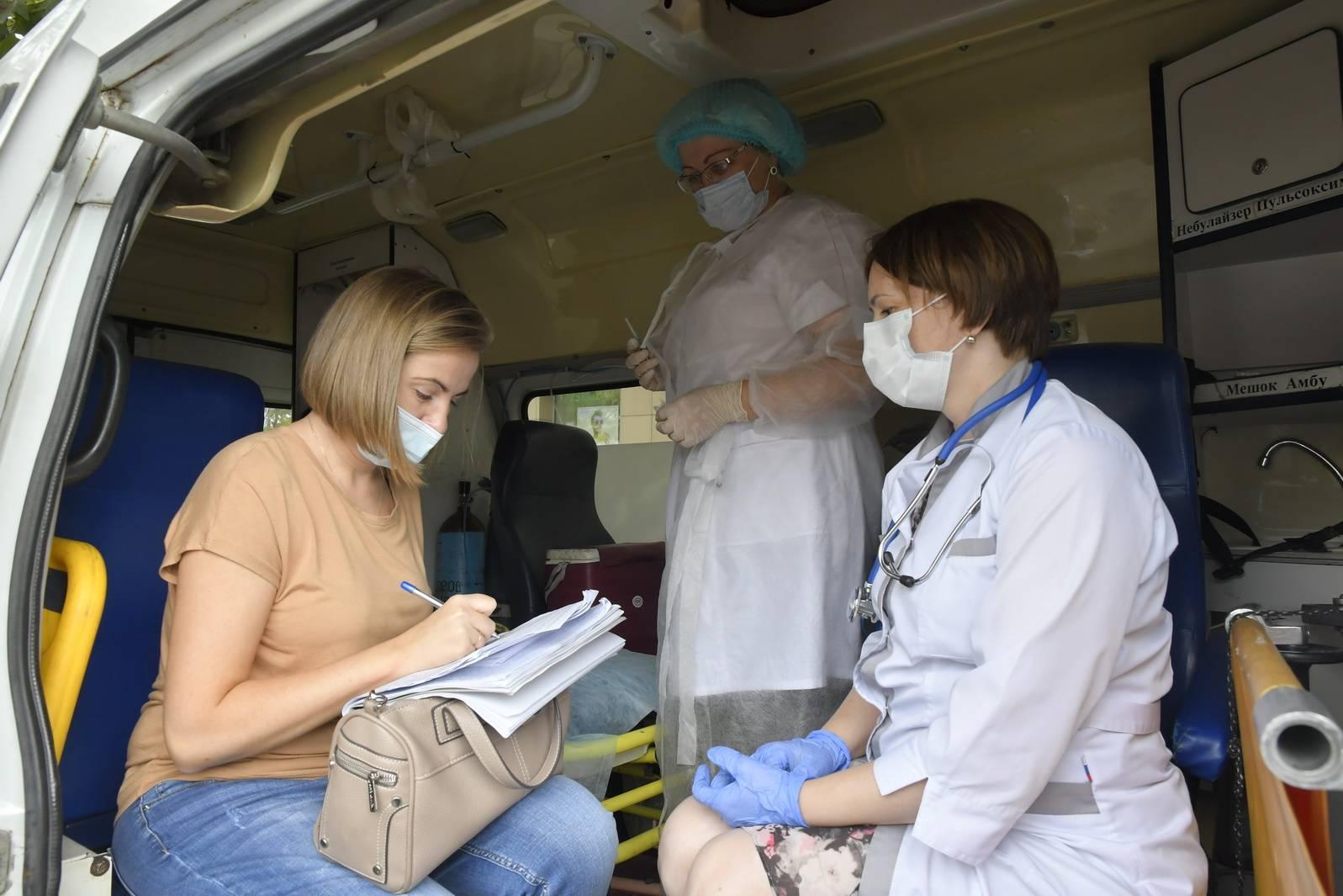 В Новороссийске сделать прививку можно прямо посреди улицы