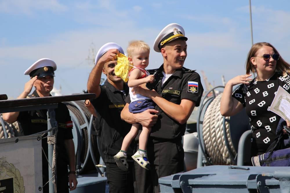 Боевой корабль вернулся домой, в Новороссийск