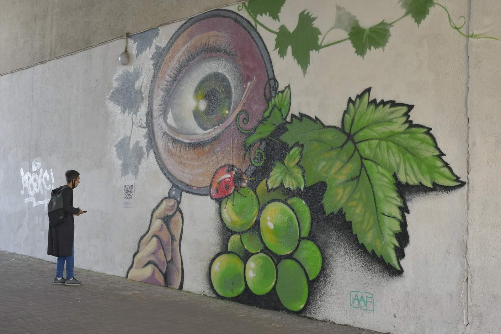 В Новороссийске появились оживающие граффити с отсылкой на военные годы