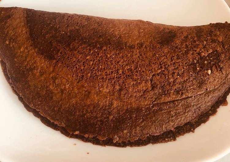 Если хочется и вкусно, и полезно — шоколадный овсяноблин на завтрак
